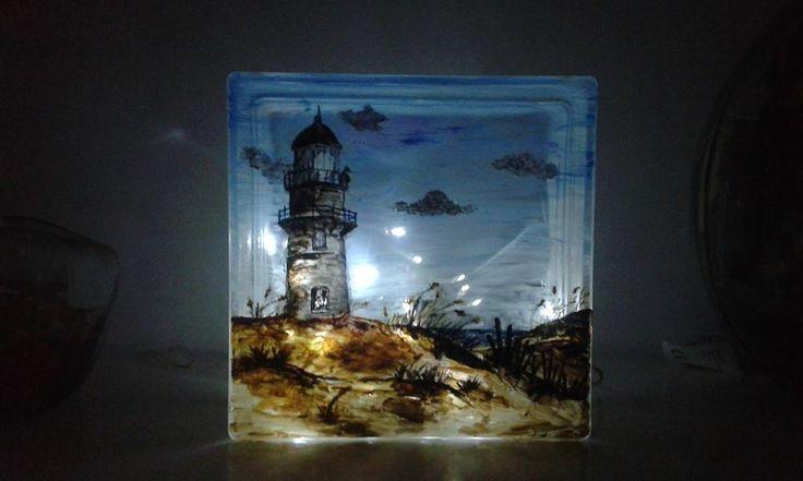 Primo esperimento con il vetrocemento...... Night light - Glass block