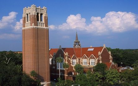 University of Florida is a public institution that was founded in 1853. It has a total undergraduate enrollment of 32,776, its setting is suburban, and the campus size is 2,000 acres. It utilizes a semester-based academic calendar. University of Florida's ranking in the 2014 edition of Best Colleges is National Universities, 49. Its in-state tuition and fees are $6,263 (2013-14); out-of-state tuition and fees are $28,541 (2013-14).Location: Gainesville, FL