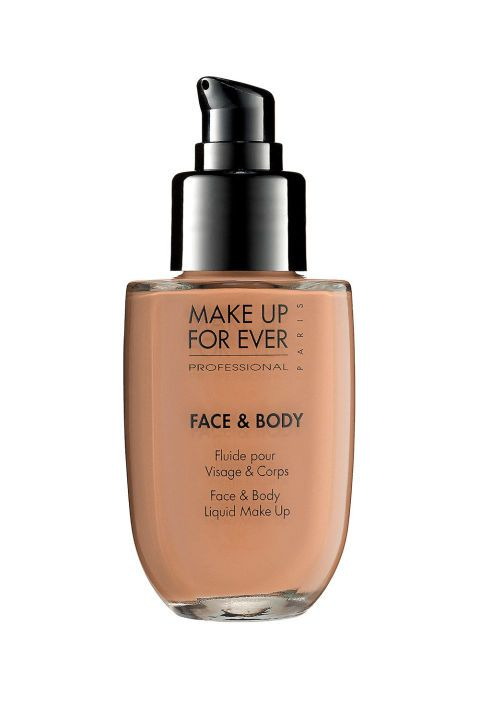 Sweat-proof, streak-free foundation is a godsend, so once you find the right one, hang on (or buy in bulk, whatever). Makeup Forever's full beauty line is a great entry point for long-lasting makeup—hence the name—but their satin coverage foundation is especially well-equipped for hot summer days . Makeup Forever Face and Body Liquid Makeup Foundation, $43; sephora.com.