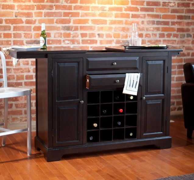 home wine bar liquor cabinet expandable storage organize furniture espresso
