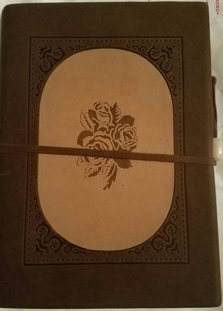 Inlay Rose Italian Leather Journal from Barnes and Noble
