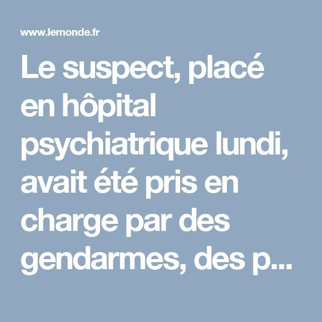Le suspect, placé en hôpital psychiatrique lundi, avait été pris en charge par des gendarmes, des pompiers et un hôpital juste avant le drame.