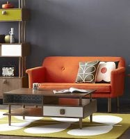 Orla Kiely - Stor soffa - Orange