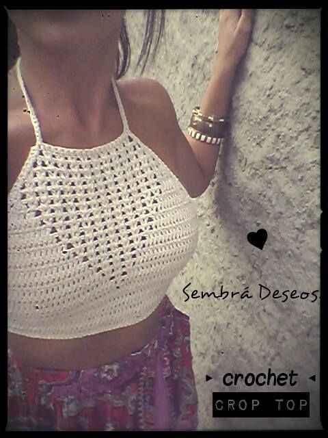 Face---Sembrá Deseos...crop top crochet