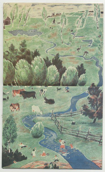 Елена Васильевна Сафонова (1902–1980гг). Иллюстрации к книге «Река»