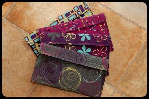 How to Make Fabric Envelopes--tutorial for fabric envelopes used for cash budget system