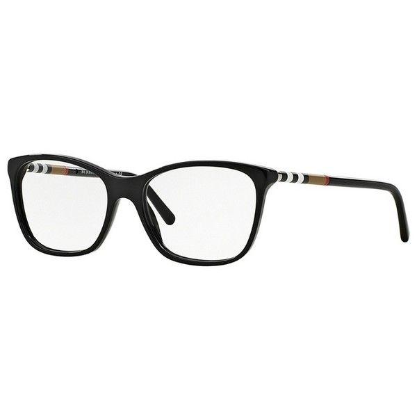 Burberry BE2141 3001 Black Eyeglasses ($195) ❤ liked on Polyvore featuring accessories, eyewear, eyeglasses, plastic glasses, burberry eyewear, plastic eyeglasses, burberry eyeglasses and burberry glasses