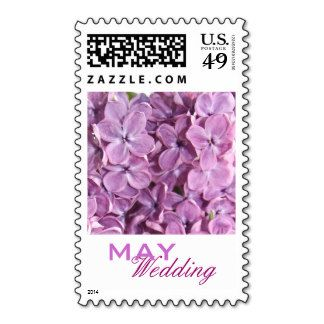 Beautiful, soft, lilac flowers May Wedding Postage Stamps