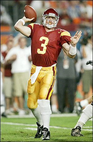 Carson Palmer, USC quarterback, the first and only USC QB picked # 1 in the NFL draft