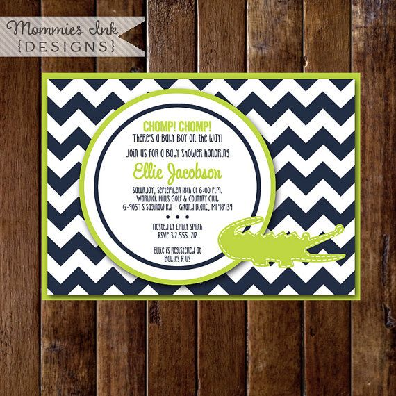 top 25+ best alligator baby showers ideas on pinterest | navy and, Baby shower invitations