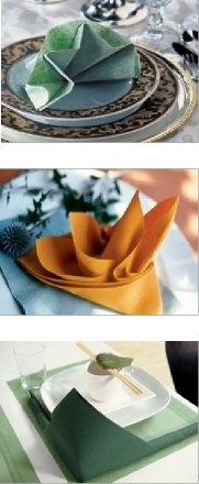 pliage de serviette l'étoile l'oiseau du paradis la bordure zen.  #napkinfold #serviette #decoration de table sur notre site: http://www.feezia.com/