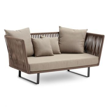Lounge Sofa 2 Sitzer Outdoor