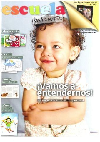 Reportaje sobre signos para bebés Cincodeditos en la revista ESCUELA INFANTIL