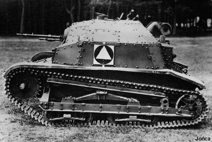 The TK-3 (TK) and TKS light turretless reconnaissance tanks, commonly called tankettes (in Polish: tankietka), were the most numerous armoured vehicles of the Polish Army at the outbreak of World War II in September 1939. Their number of over 500 vehicles constituted formally a significant tank force. Unfortunately, they were not fully capable tanks, and, apart from few cannon-armed ones, could not fight against other armoured fighting vehicles.