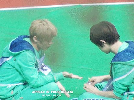 Chanyeol shared candy to Luhan and the way Luhan eats it is so cute! he even asked more candy XD (GIF)