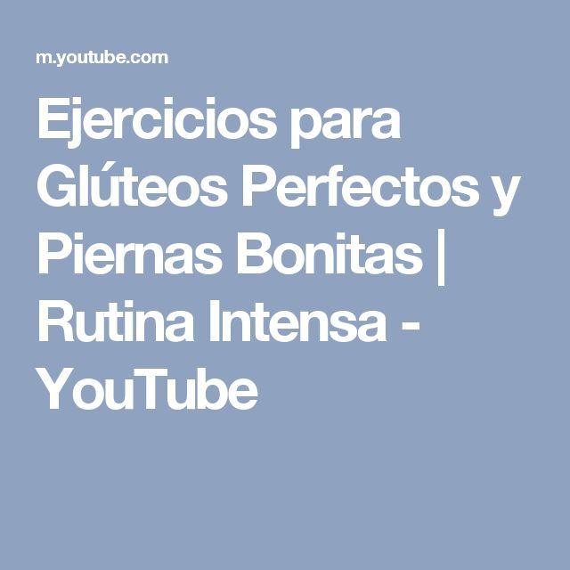 Ejercicios para Glúteos Perfectos y Piernas Bonitas | Rutina Intensa - YouTube