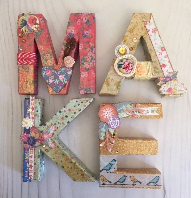 decoupage letters docraftscom