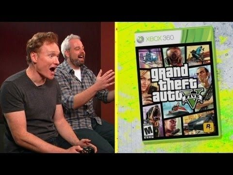 """Watch Conan O'Brien Try To Firebomb A Strip Club In """"Grand Theft Auto 5""""- So hilarious!"""