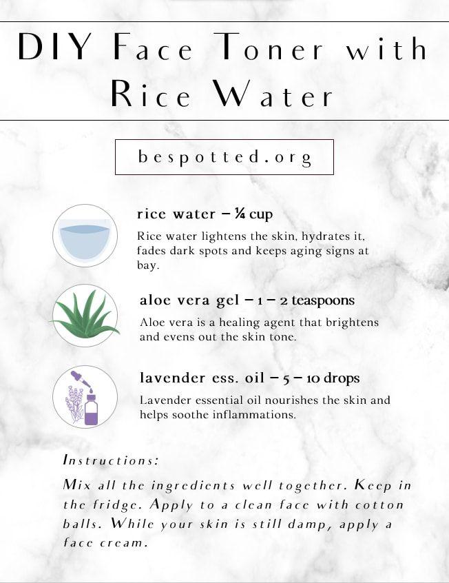 Rice Water For Skin Benefits How To Make Diy Rice Water Face Toner Toner For Face Skin Benefits Diy Skin