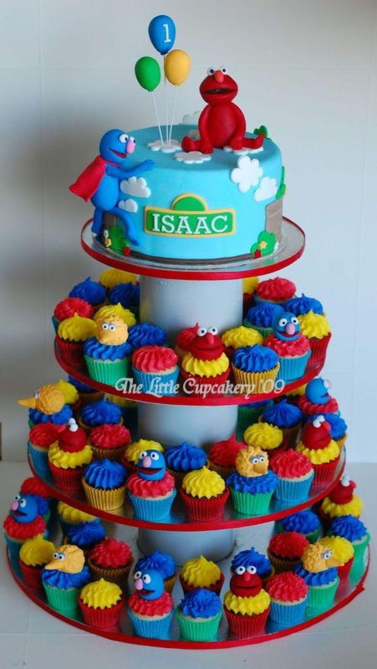 Sesame Street Cupcake Tower On Cake Central