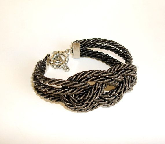 Nautical sailor knot rope bracelet by seragun on Etsy, $15.00