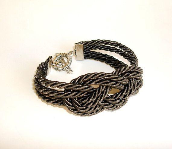 Nautical sailor knot rope bracelet by seragun on Etsy, $15.00
