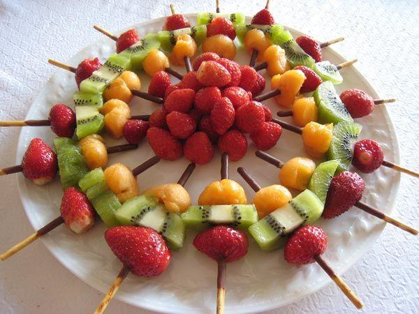 brochetas de frutas - Buscar con Google