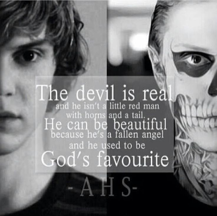 Ahs Quotes: #americanhorrorstory #AMAZING I Love You Tait! Be Aware Of