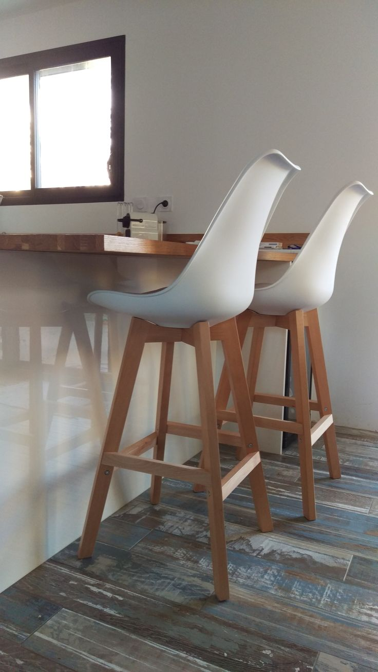 25 best ideas about tabouret de bar blanc on pinterest for Chaise bois blanc