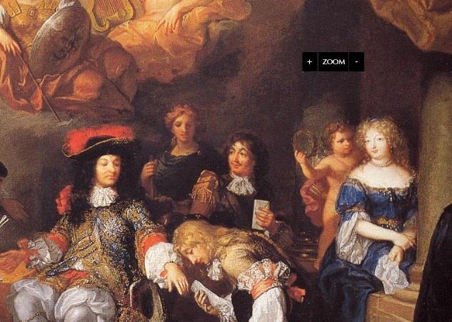 Les audiences de Louis XIV, source unknown