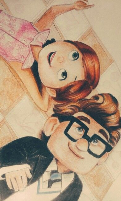 Carl and Ellie#Up#Pixar Sketch By Devashree Sane