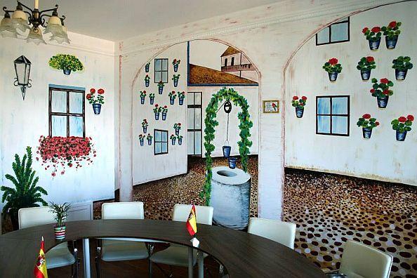 Patio terem - andalúz udvar, eredeti spanyol hangulat :) Ideális a spanyoltanuláshoz