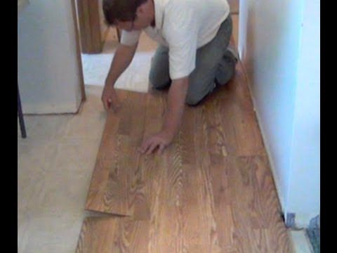 Installing Laminate Flooring From Lowes | Project How To Video Lowes  Employees.com