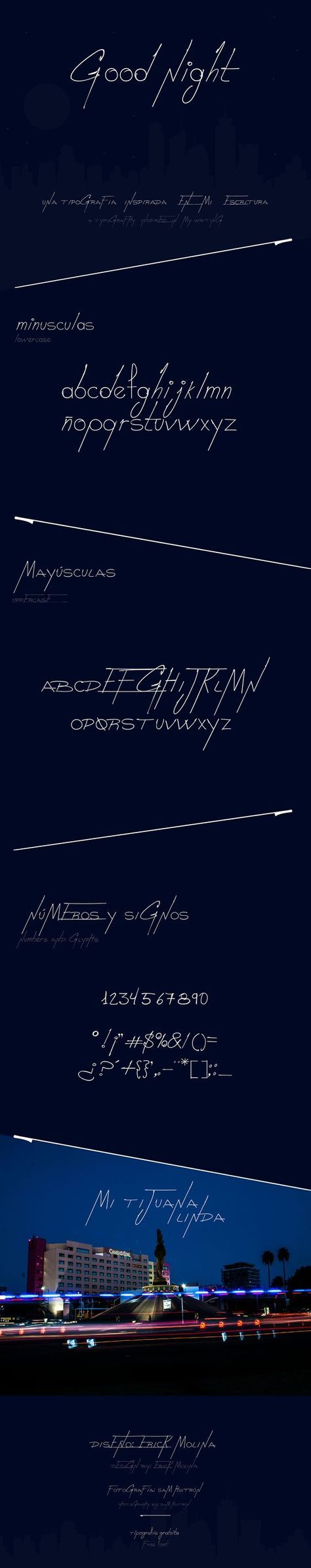 Good Night (Free Font) par Erick Molina - 28