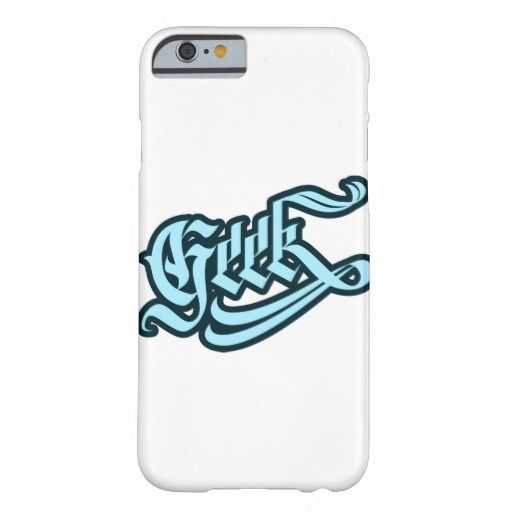 Geek iPhone Case Barely There iPhone 6 Case #geek #lettering #LetterHype
