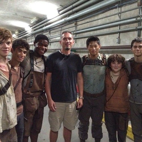 Maze Runner cast with James Dashner