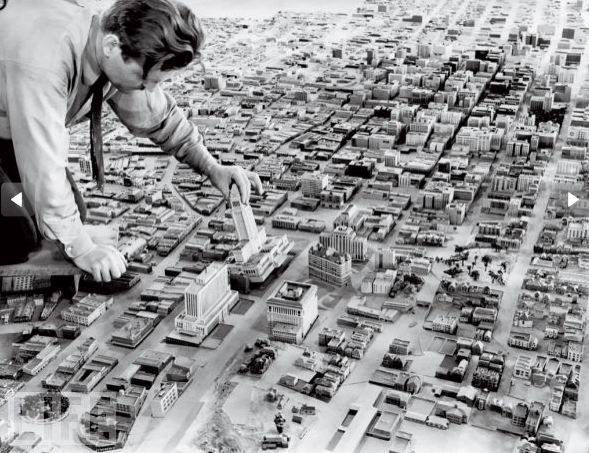 BW photo - Retro City Planning