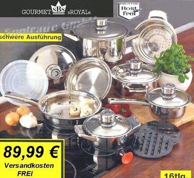 INOX Edelstahl Kochtöpfe Induktionstöpfe INDUKTION Topfset 16tlg ALLE Herdarten   eBay