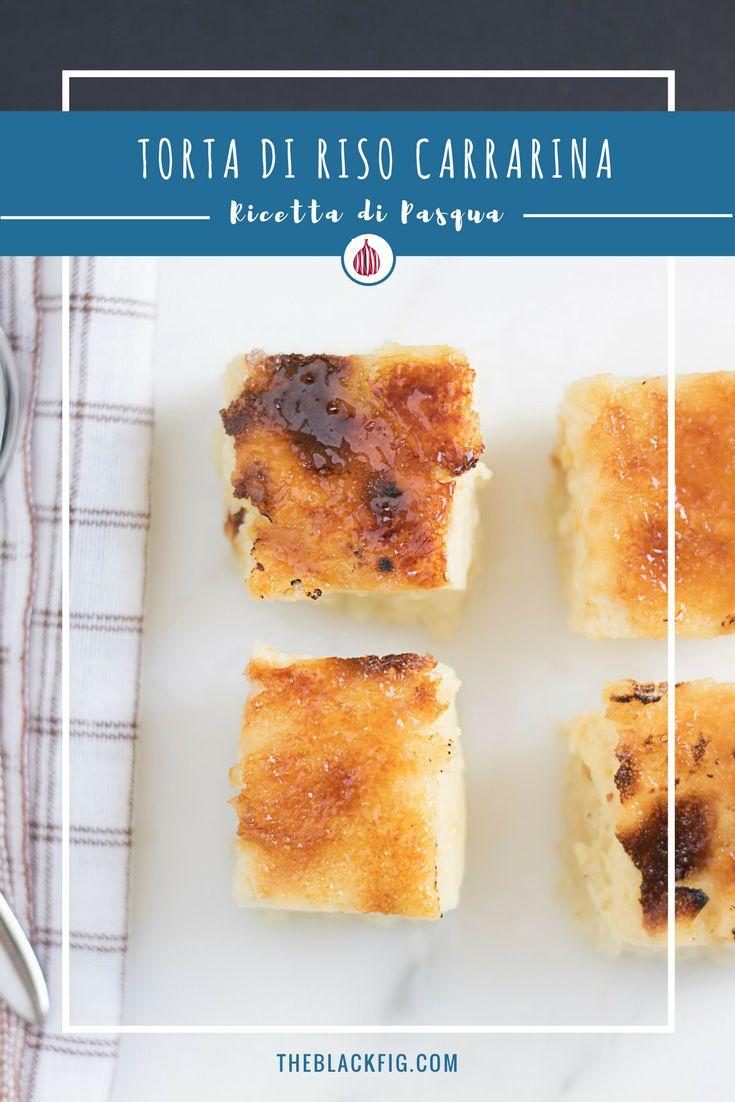 Conoscete la torta di riso carrarina? Va provata! #pasqua #toscana #cucinaitaliana