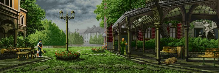 Stunning Animated GIFs of Backgrounds From Old Fighting Games - UltraLinx