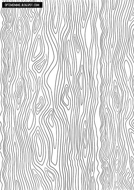 OPTIMIMMI | A free printable coloring page of the texture of wood or water / Ilmainen tulostettava värityskuva puusta tai vedestä.