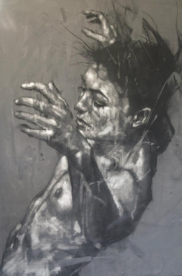 Guy Denning - Social dysfunction celebrated as ritual. I like the full body image that he has created here as I think it really builds up the light and dark and really shows of the muscle definition and bone structure of the women.