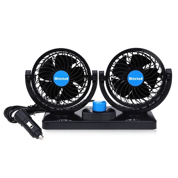 Mitchell Mini Vehicle Fan 2 Gears 360 Degree Rotating Low Noise Car Cooling Fan DC 12V Air Conditioner Wind Cooler