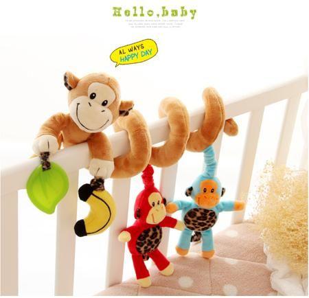 Sozzy обезьяна куклы плюшевые кровати висит 0-1-3 год, старые детские игрушки висели вокруг автомобиля детские кровати  — 1254.89р.