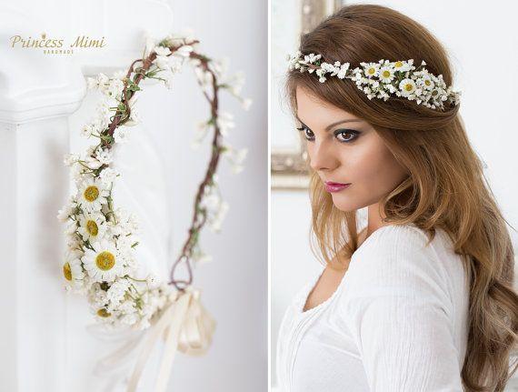 Braut Blumenkranz Haarkranz Hochzeit Haarband von MimiPrincess