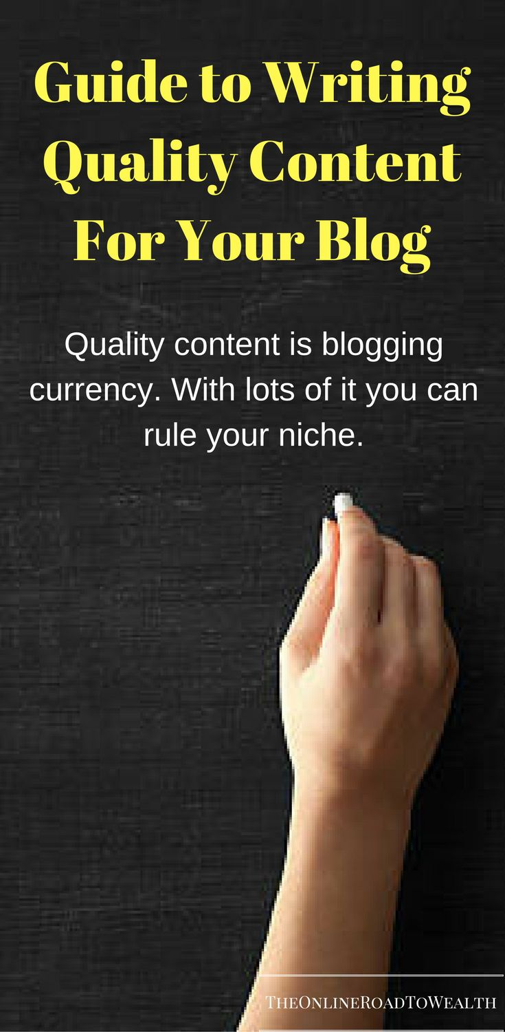 Guide To Writing Quality Content For Your Blog. Start attracting new visitors and increase your blog traffic by writing better quality content. This posts consists of tips you can implement in your writing process to help you write better.