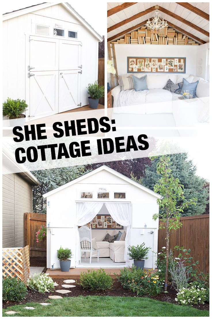 This cozy cottage She Shed, installed by The Home Depot, started as a standard storage shed. Now, it has been transformed with charming, rustic décor. See how this lovely little backyard retreat came together and get everything you need to start your cottage She Shed project at The Home Depot.