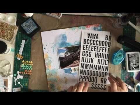 Kitaholic Kits - June Kits - Scrapbooking Process Video with Chrissi