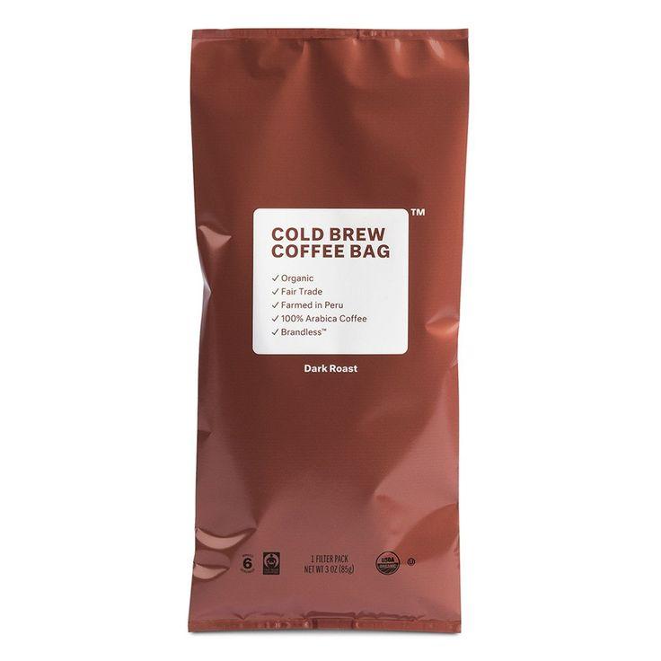 Organic fair trade cold brew coffee bag brandless
