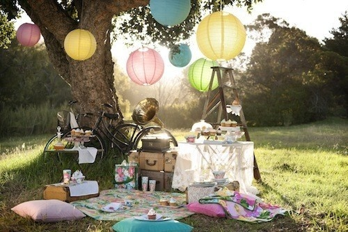 """every year at the first concert in the park they have a """"best setup"""" contest... and I think if we copied this we could win... and if we didn't, who cares because we'd still be having this beautiful picnic!"""